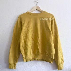 Brandy Melville Erica deep yellow mustard sweater